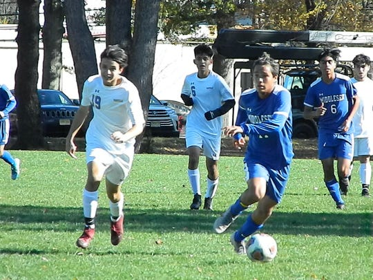 Manville at Middlesex boys soccer in the NJSIAA Central Group I Tournament quarterfinals on Friday, Nov. 1, 2019.