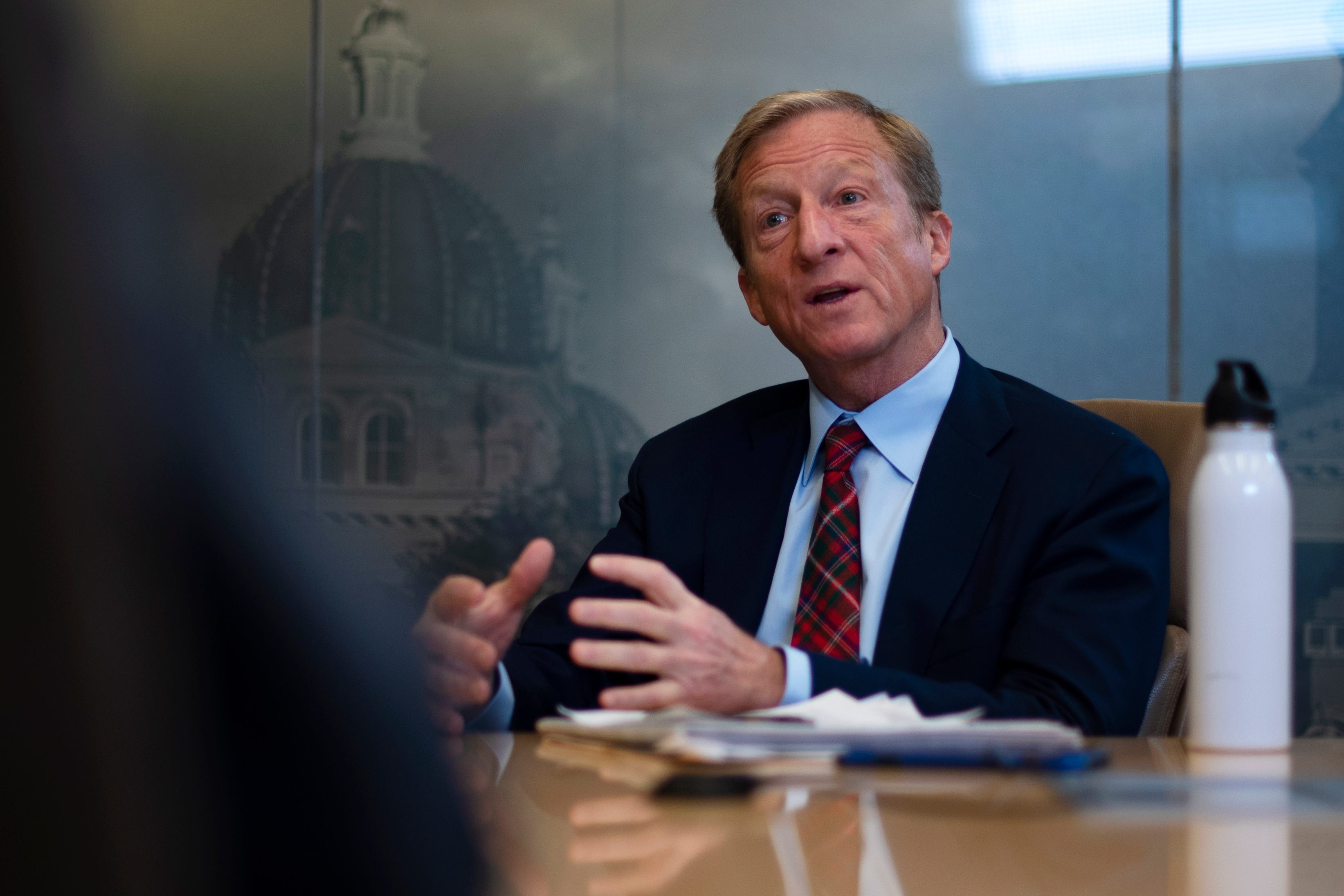 Watch: Tom Steyer speaks with the Register's editorial board
