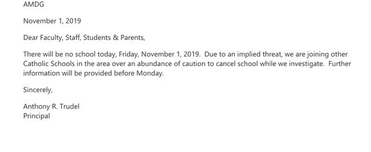 University Of Detroit Jesuit High School & Academy closes Friday after wave of school shooting threats among other metro Detroit Catholic schools.