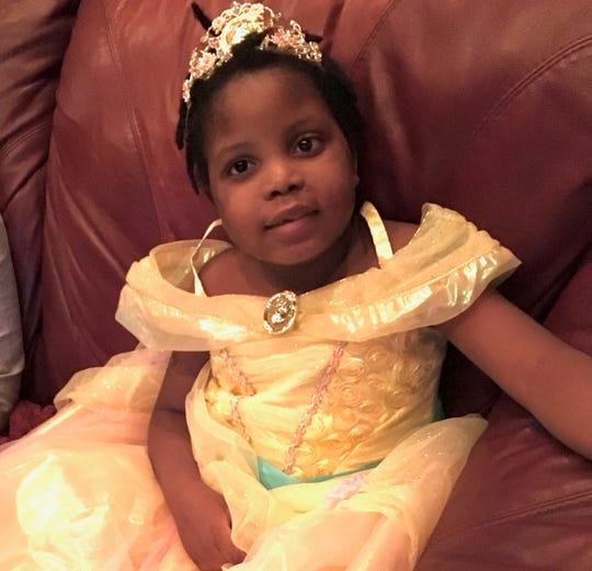 Chika in a princess dress.