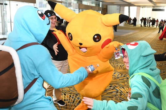 The famous Pokémon made a grand entrance at the TCF Center at Youmacon 2019 in Detroit on Friday, November 1, 2019.