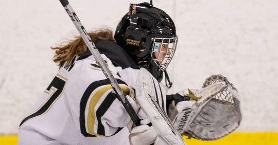 HoneyBaked goalie Callie Shanahan is one of five Michigan hockey players who were selected to play in the U18 women's world championships.