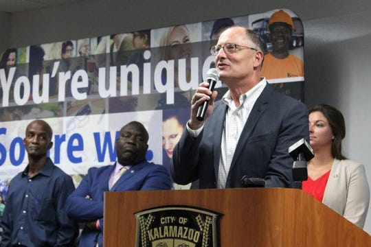 State Rep. Leutheuser unveiled the expungement reform plan in Kalamazoo in September.