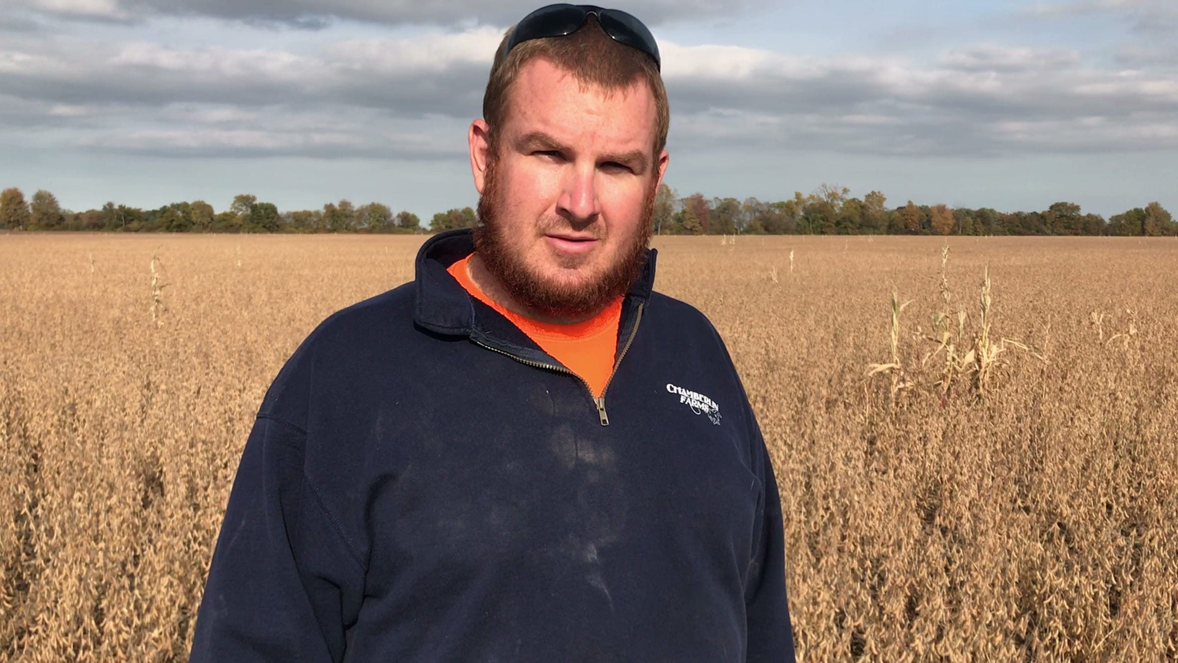 Genoa farmer Chad Gargas said some of the soybean fields he and his father, Rich, are harvesting have produced yields of only 35 bushels per acre. On an average year, those same fields would normally yield 60 bushels per acre.