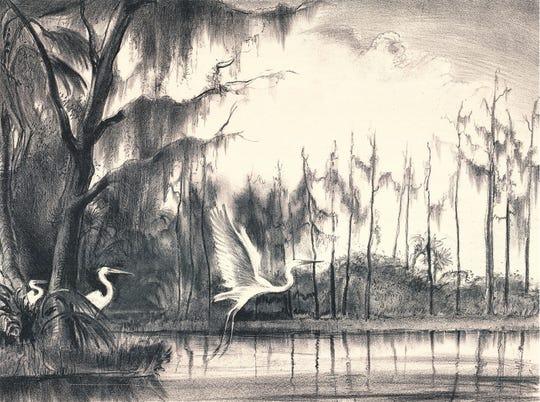 """""""Florida Swamp,"""" by Victoria Hutson Huntley"""