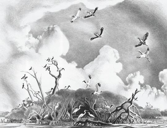 """""""Lake Cuthbert Rookery,"""" by Victoria Hutson Huntley"""