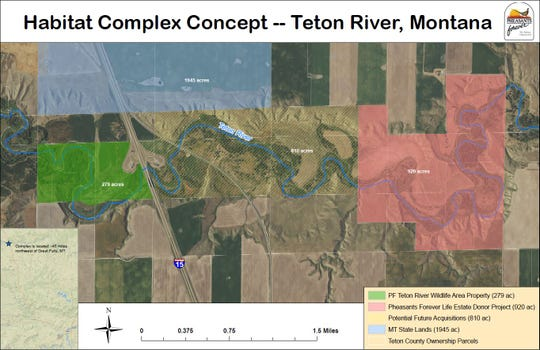 Current and potential future acquisitions of land along the Teton River