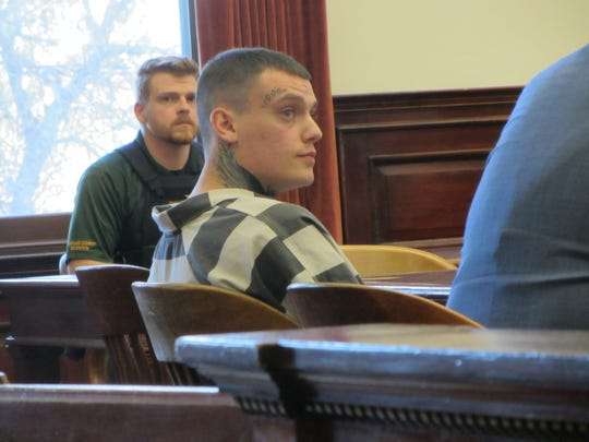 Autree Aniel Pedersen awaits sentencing Friday, Nov. 1, 2019, in Cascade County District Court.