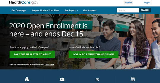 Open enrollment continues until Dec. 15 for 2020 Affordable Care Act individual market health insurance plans.