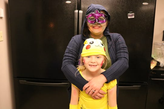 Kayla Dawn Lehner is seen here with daughter Lexi Lehner, dressed up in their Halloween costumes.