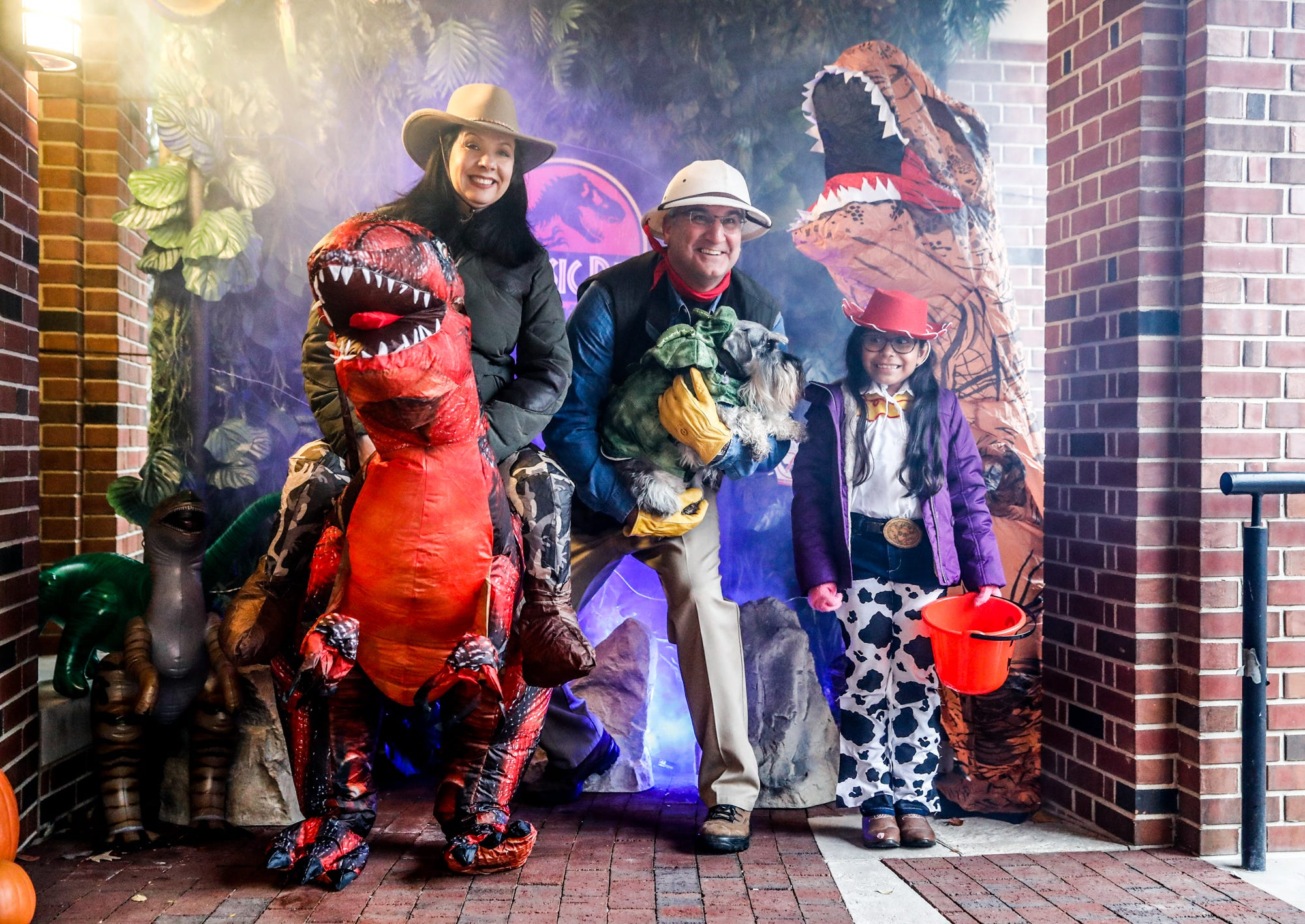 A Jurassic Park Halloween at the Governor's Mansion