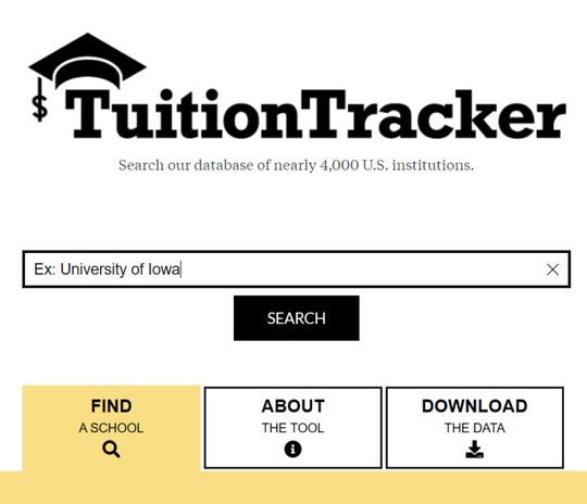 Tuition tracker tool
