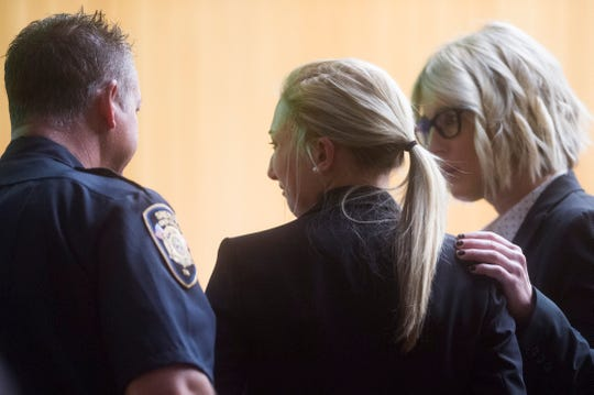 Chelsea Nicole Hopson is seen in court as she receives her sentence at the City County Building, Friday, Nov. 1, 2019. Knox County Judge Scott Green handed out sentences of 10 years in prison for Isaiah Trey Brooks, 30 days in jail for Chelsea Nicole Hopson, and three years of supervised probation for Noel Leyva. Green said he will consider an early release for Brooks after he serves one year, and gave Hopson the chance for diversion, meaning her criminal record could be wiped clean.