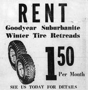 This Huddle Tire ran this ad in the October 18, 1961 Lancaster Eagle-Gazette