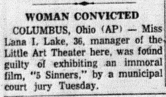 This tiny clip from the front page of the October 18, 1961 Lancaster Eagle-Gazette