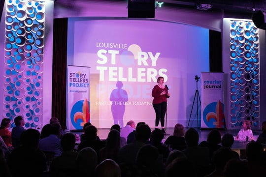 Milwaukee is joining Louisville and other USA Today Network newsrooms in hosting Storytellers Project shows. Here, Carla Harris Carlton shared a story about her bourbon roots on April 9 at the Louisville Storytellers Project hosted at Play Louisville.