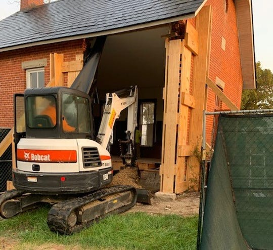 Fresh soil and a vapor barrier have been placed at Linn School on Ohio 4 north of Marion. A semi truck crash on July 30 badly damaged the 122-year-old one-room schoolhouse. Ohio EPA conducted soil sampling after diesel fuel spilled from the truck following the crash. Marion County Historical Society officials hope the school will be open by spring of 2020.