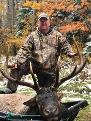 Randy Besonen of Grandview was one of four hunters who drew a 2019 Wisconsin elk hunting tag in the DNR lottery. He killed a bull elk Oct. 13 in the Chequamegon-Nicolet National Forest.