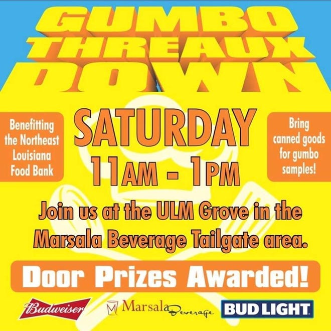 Marsala Beverage is hosting the second annual Gumbo Threaux Down from 11 a.m. to 1 p.m. on Saturday in the Grove at ULM