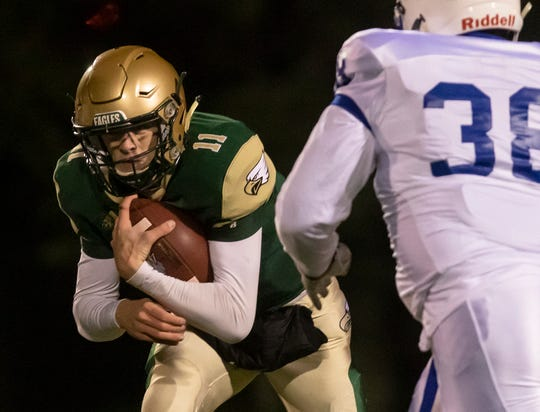 OCS shut-out St. Fred's with a commanding 41-0 win at Ouachita Christian in Monroe, La. on Oct. 31.