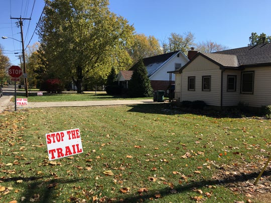 Homeowners say the proposed Riverside Avenue recreational trail is too intrusive on front yards of houses.