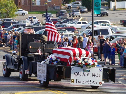 Float in the Veterans Day Parade from 2016.