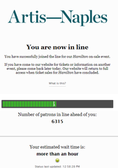 "The wait for ""Hamilton"" tickets is not an easy one for some patrons."