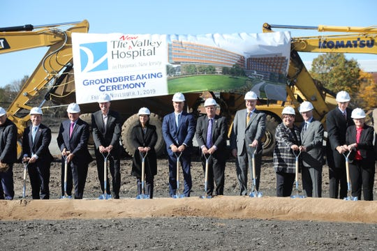Dignitaries including Senator Robert Menendez and Governor Phil Murphy joined Audrey Meyers, President and CEO, The Valley Hospital and Valley Health Systems to participate in a groundbreaking for the New Valley Hospital in Paramus on November 1, 2019.