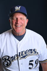 Pat Murphy, bench coach of the Milwaukee Brewers for the 2019 season.