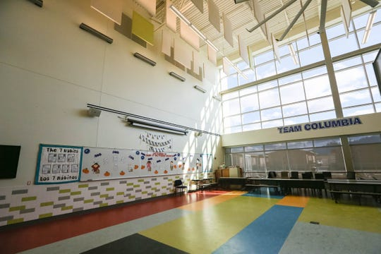 Portions of Centennial High School have been transformed into a home for Columbia Elementary, pictured here Oct. 18, 2019. Columbia students and staff had to be evacuated from their original building in September 2018 because of mold.