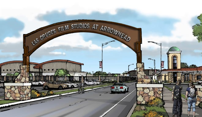 An artist's rendering of what the Las Cruces Film Studios at Arrowhead would look like. Doña Ana Community College is seeking funding to building a Creative Media Technology building within Arrowhead Park.