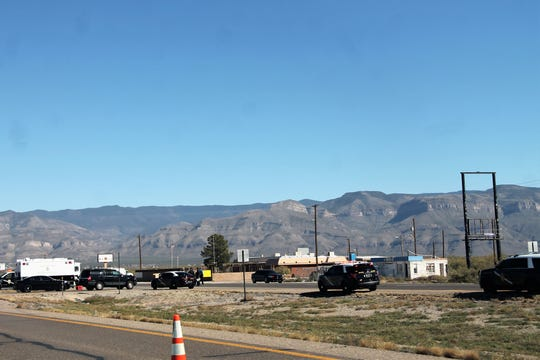 An NMSP roadblock on U.S. Highway 70 on the eastbound side. NMSP is investigation an officer-involved shooting that happened Nov. 1.