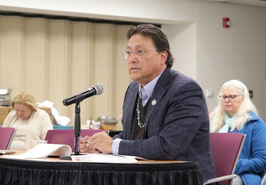"Diné College President Charles ""Monty"" Roessel gave an update about the college to the New Mexico Rural and Economic Development Committee during an Oct. 30 meeting at San Juan College."