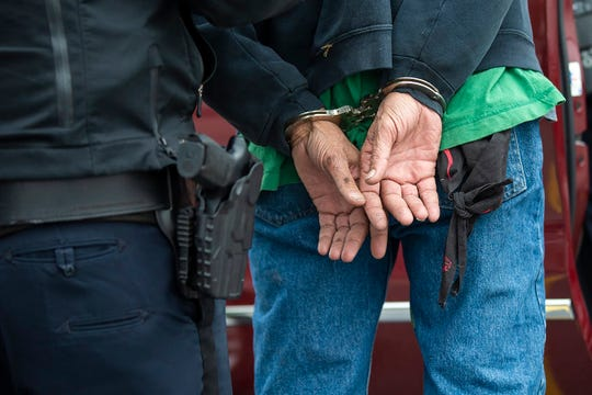 Police in Concord, N.H., arrest a man named Kerry for prowling . (Jesse Costa/WBUR)