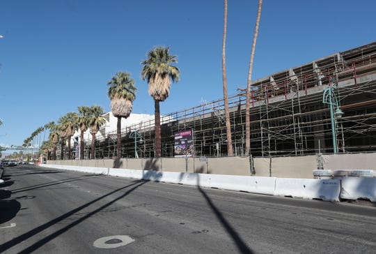 Construction on the Andaz Palm Springs project has come to a halt at the downtown Palm Springs hotel, November 1, 2019.