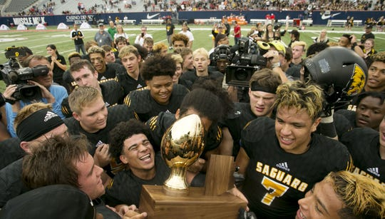 Scottsdale Saguaro High has won a lot of state championships in football.