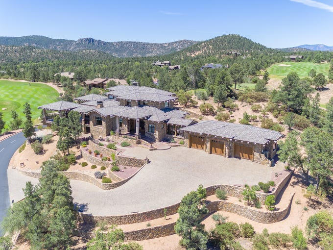The expansive mansion in Payson has more than 8,700 square feet under roof.