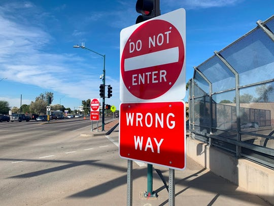 ADOT announced Wednesday it was completing a project to install hundreds of new, larger wrong-way signs on Phoenix-area freeways.