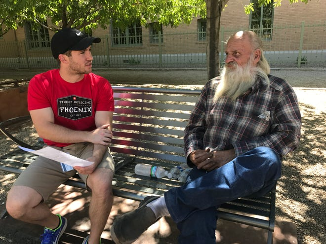Third-year medical student Justin Zeien provides free health care resources as part of Street Medicine Phoenix, a program he helped start in 2017.
