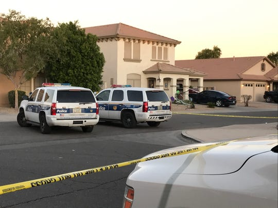 Phoenix police arrived to five people shot outside a house party in Phoenix on Nov. 1, 2019.