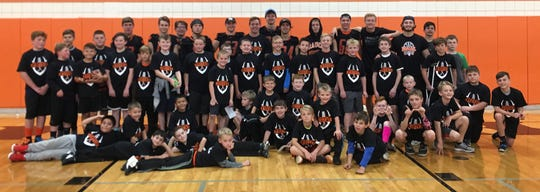 The Almont football team hosted a youth camp Sunday at the high school.
