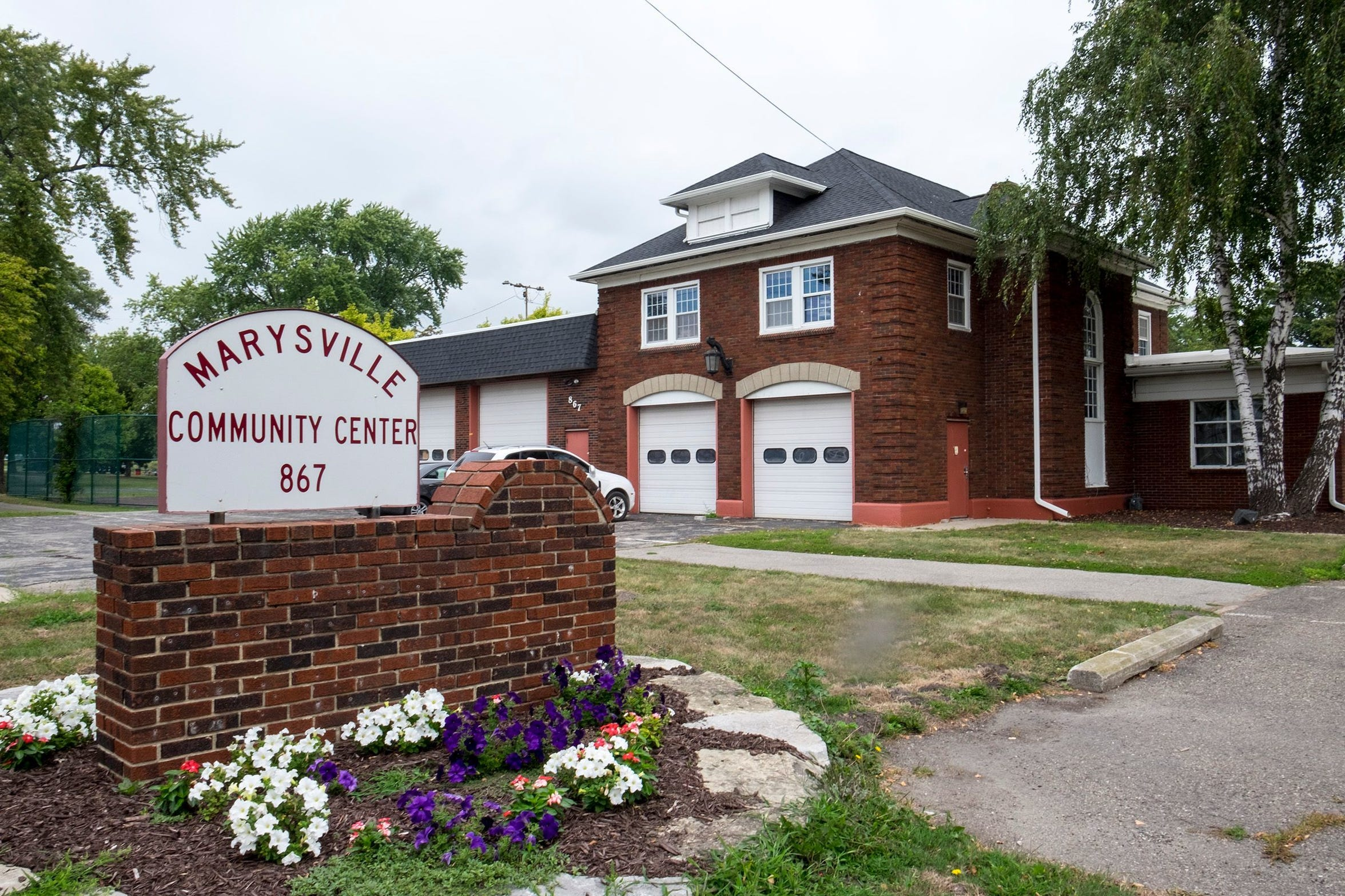 The community center, in 2017 before its major renovations, is now headquarters for Marysville's recreation department.