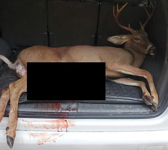 State police Cpl. Brian Torkar - an avid hunter - caused concern on Tuesday, Oct. 29, 2019, when a county prosecutor driving behind him noticed blood drips and smears on the tailgate of the white SUV in front of her. She alerted York Area Regional Police immediately, police said.