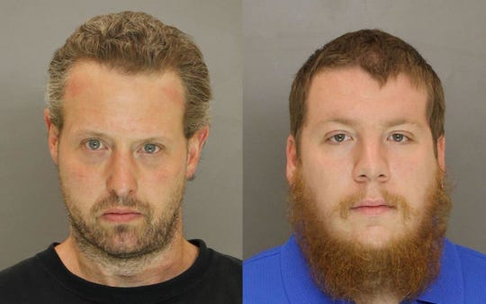 Todd Kraft, 45, of York, left, and Jeremy Robbins, 24, of North Hopewell Township, right.