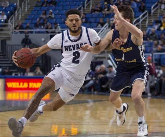 Nevada guard Jalen Harris (2) is one new face for the Wolf Pack this season.