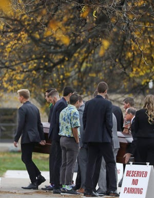 Funeral services were held for Dane Leclair at St. John of Rochester Church, Fairport Friday, Nov. 1, 2019.