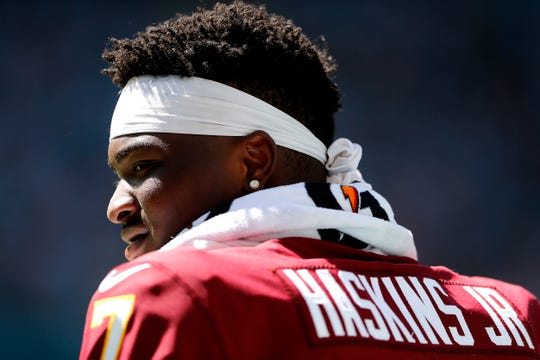 With Case Keenum in concussion protocol, rookie Dwayne Haskins may be Washington's starting quarterback against the Buffalo Bills on Sunday.