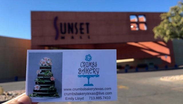Sunset Mall adds Crumbs Bakery by Emily Lloyd.