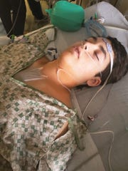 John Thoms, diagnosed with anomalous left coronary artery from the pulmonary artery (ALCAPA),  after open heart surgery.
