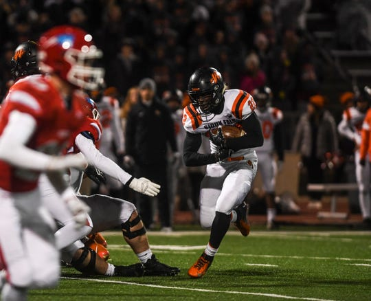 Washington running back Michael Johnson rushed for 132 yards on 36 carries against Lincoln in the quarterfinals.